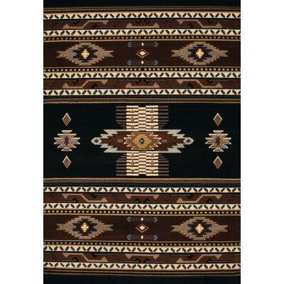 Hyacinthe Black Area Rug Rug Size: 53 x 76