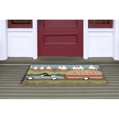 Folsom Green Camping Dog Indoor/Outdoor Area Rug Rug Size: 26 x 4