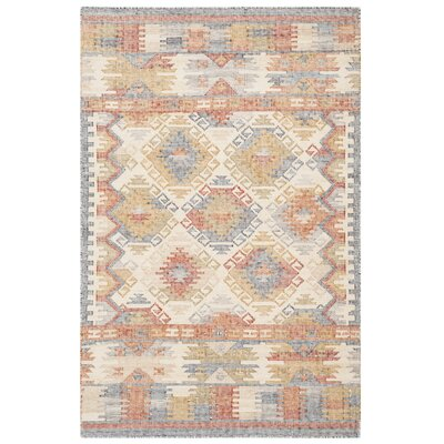 Elan Hand-Woven Ivory/Gray Area Rug Rug Size: Rectangle 4 x 6