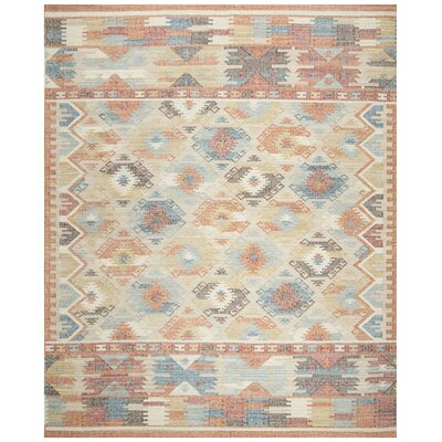 Elan Hand-Woven Red Area Rug Rug Size: Rectangle 8 x 10