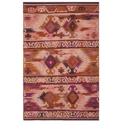 Elan Hand-Woven Pink/Red Area Rug Rug Size: Rectangle 4 x 6