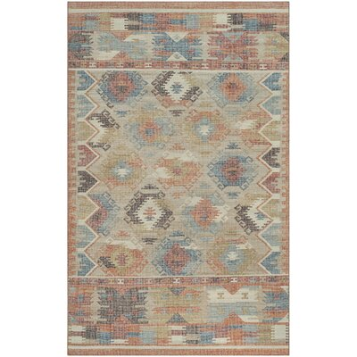Elan Hand-Woven Red/Blue Area Rug Rug Size: Rectangle 5 x 8