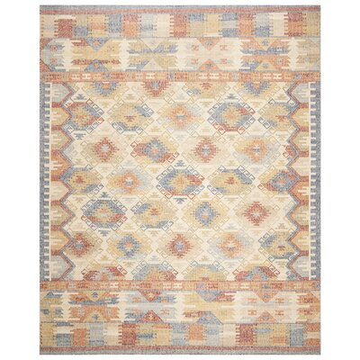 Elan Hand-Woven Ivory/Gray Area Rug Rug Size: Rectangle 8 x 10