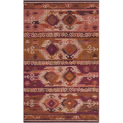 Elan Hand-Woven Pink/Red Area Rug Rug Size: Rectangle 5 x 8