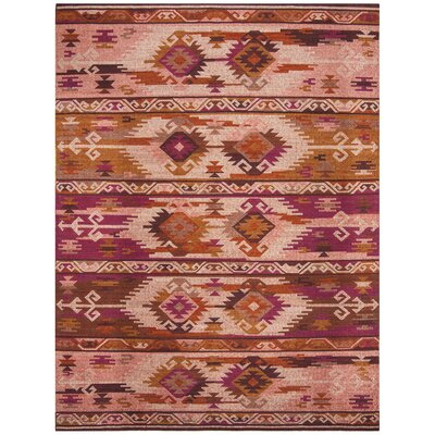 Elan Hand-Woven Pink/Red Area Rug Rug Size: Rectangle 8 x 10