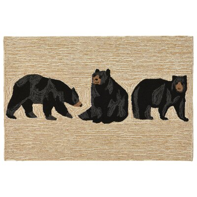 Buckeys Bears Hand-Tufted Natural Indoor/Outdoor Area Rug Rug Size: 2 x 3
