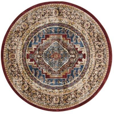 Isanotski Oriental Brown Area Rug Rug Size: Round 67