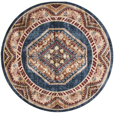 Isanotski Red/Blue Area Rug Rug Size: Round 67