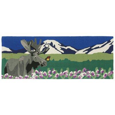 Folsom Hand-Tufted Green Indoor/Outdoor Area Rug Rug Size: Runner 23 x 6