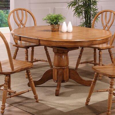 Florentia Extendable Dining Table Color: Solid Oak
