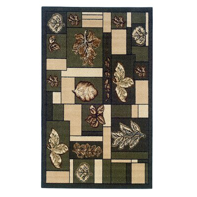 Fitchburg Green/Ivory Area Rug Rug Size: 43 x 73