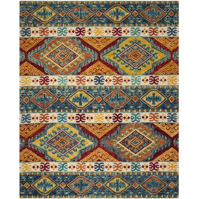 Bobigny Hand-Tufted Navy Area Rug Rug Size: Rectangle 9 x 12