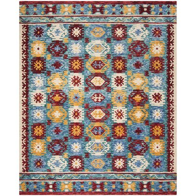 Bobigny Hand-Tufted Blue Area Rug Rug Size: Rectangle 4 x 6