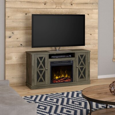 Emelia 47.5 TV Stand Color: Spanish Grey, Fireplace Included: Yes