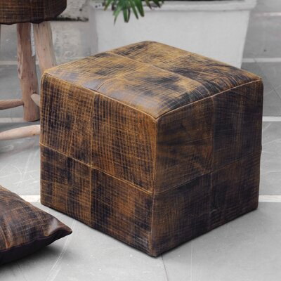 Xander Leather Ottoman