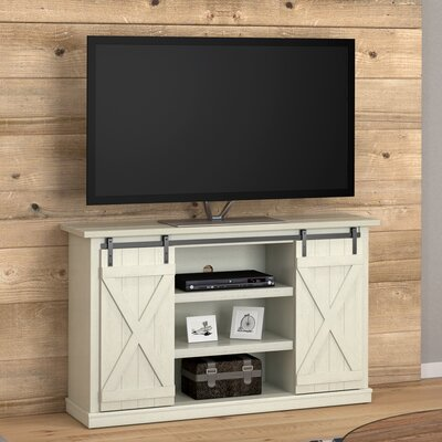 Bluestone 54 TV Stand Color: Old Wood White/Light Acacia