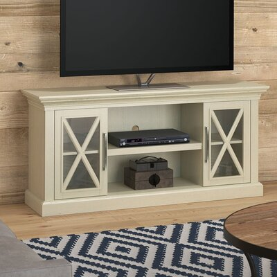 Fischer 53.8 TV Stand Color: Old Wood White