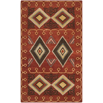 Boyd Hand-Tufted Multi-Color Area Rug Rug Size: Rectangle 4 x 6