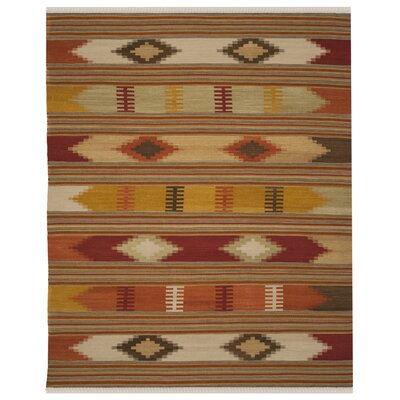 Vacaville Hand Woven Wool Red/Orange Area Rug Rug Size: Rectangle 11 x 15