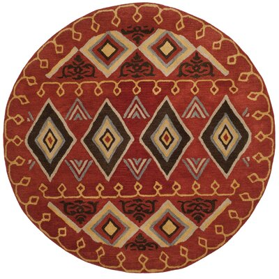 Boyd Hand-Tufted Multi-Color Area Rug Rug Size: Round 8