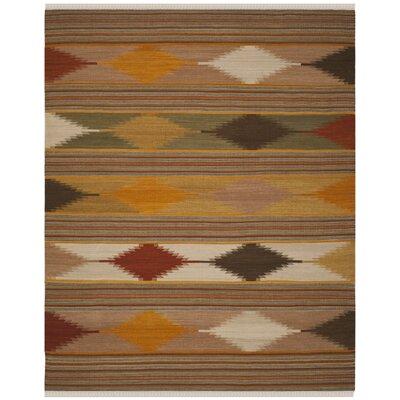 Vacaville Brown & Tan Area Rug Rug Size: Rectangle 10 x 14