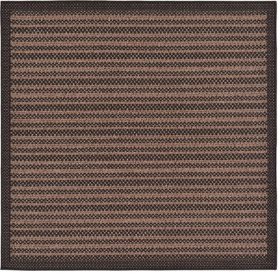 Clayera Brown Outdoor Area Rug Rug Size: Square 6