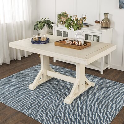 Aubree Wood Dining Table Finish: Antique White