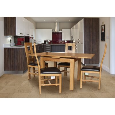Pecoraro 5 Piece Extendable Dining Set Color: Natural Oak
