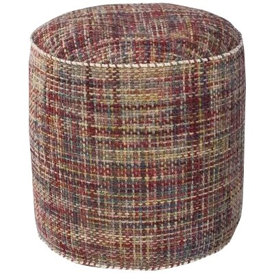 Jack Textures Pouf Upholstery: Red