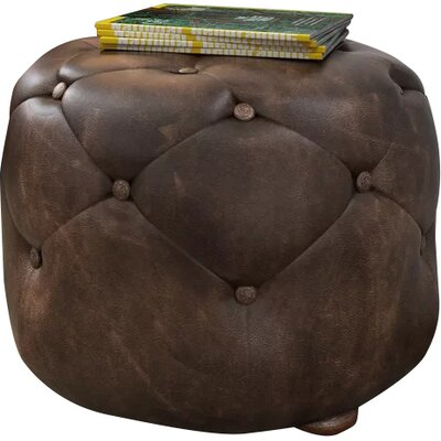 Canard Leather Cocktail Ottoman Size: Medium