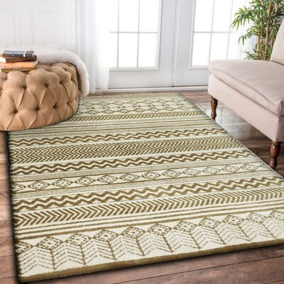 Leyden Hand-Tufted White Indoor Area Rug