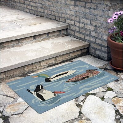 Tamara Duck Life Hand-Tufted Blue Indoor/Outdoor Area Rug Rug Size: Rectangle 26 x 4