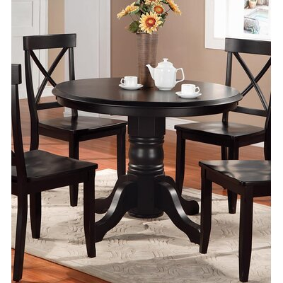 Parkerton Pedestal Dining Table Finish: Black
