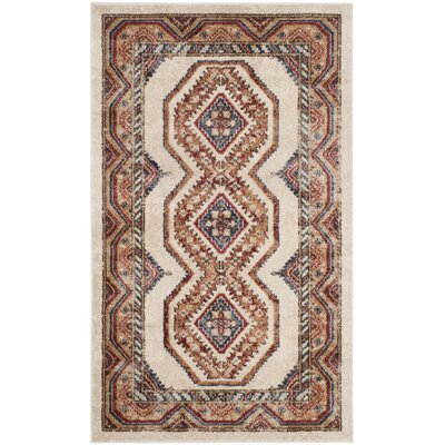 Isanotski Ivory/Rust Area Rug Rug Size: Rectangle 3 x 5