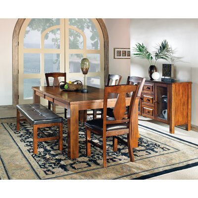 Burgess Dining Table with 2 Benches and 2 Side Chairs