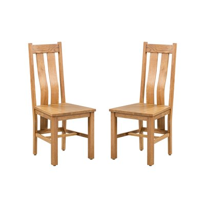 Ransom Solid Wood Dining Chair Color: Light Dark Oak
