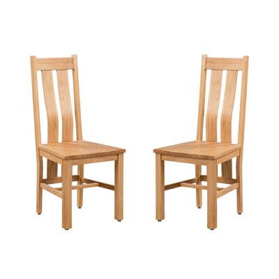 Ransom Solid Wood Dining Chair Color: Natural Oak