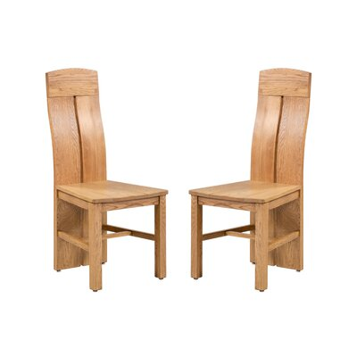 Kiazolu Solid Wood Dining Chair Color: Light Dark Oak