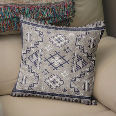 Cyrill Throw Pillow Size: 24 H x 24 W x 5 D, Color: Beige/ Blue