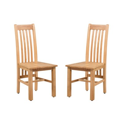Covarrubias Solid Wood Dining Chair Color: Golden Oak