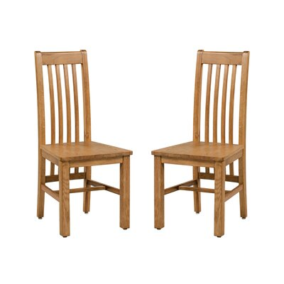 Covarrubias Solid Wood Dining Chair Color: Light Dark Oak