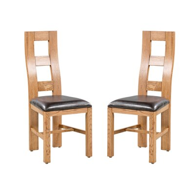 Carbajal Upholstered Dining Chair Frame Color: Natural Oak