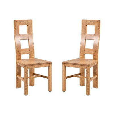 Carbajal Solid Wood Dining Chair Color: Light Dark Oak