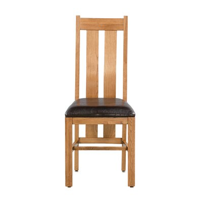 Ransom Upholstered Dining Chair Color: Golden Oak