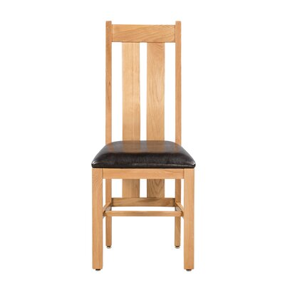 Ransom Upholstered Dining Chair Color: Natural Oak