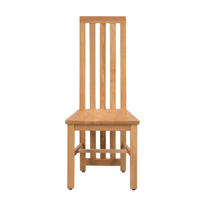Arreola Solid Wood Dining Chair Color: Golden Oak