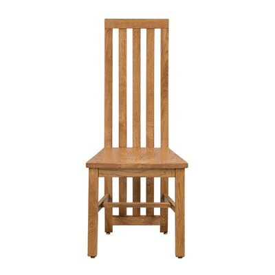 Arreola Solid Wood Dining Chair Color: Light Dark Oak