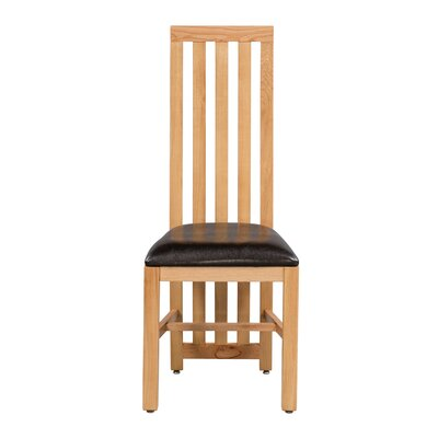Arreola Upholstered Dining Chair Frame Color: Golden Oak