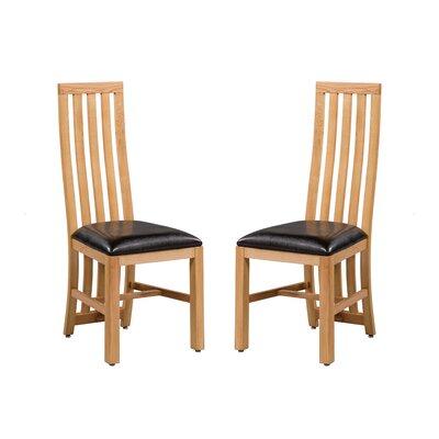 Arreola Upholstered Dining Chair Frame Color: Natural Oak
