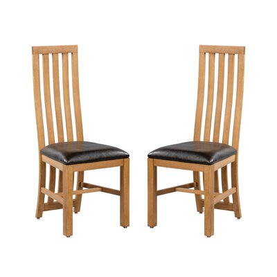 Arreola Upholstered Dining Chair Frame Color: Light Dark Oak